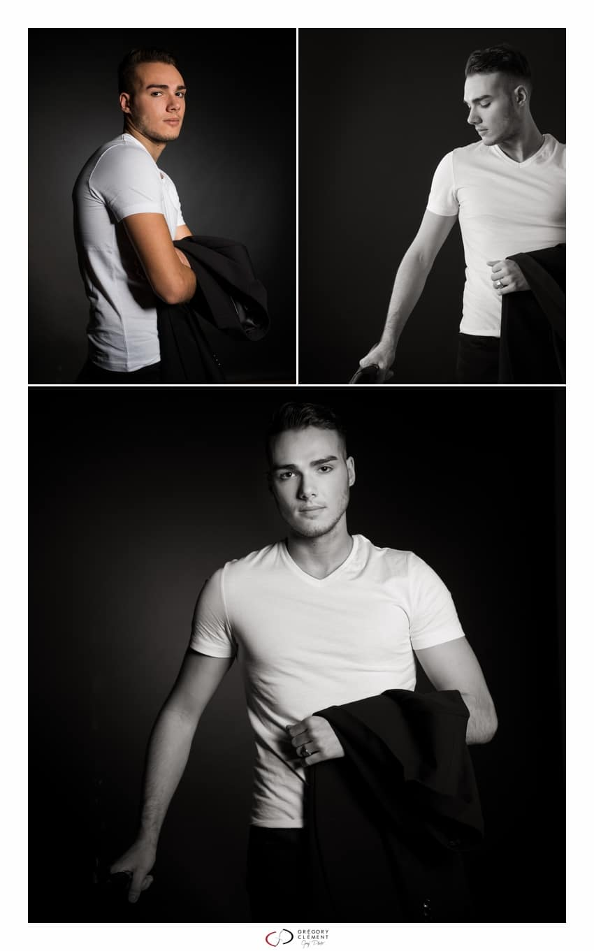 Photographe book homme studio Nancy 2