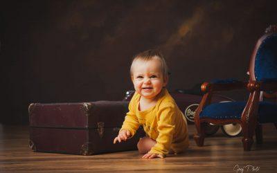 Photos de famille à Toul pour les un an de Sybille