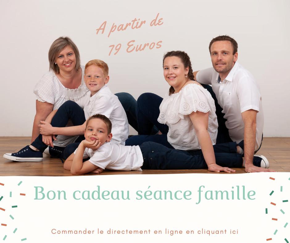 Bon cadeau séance photos famille à Nancy et Toul
